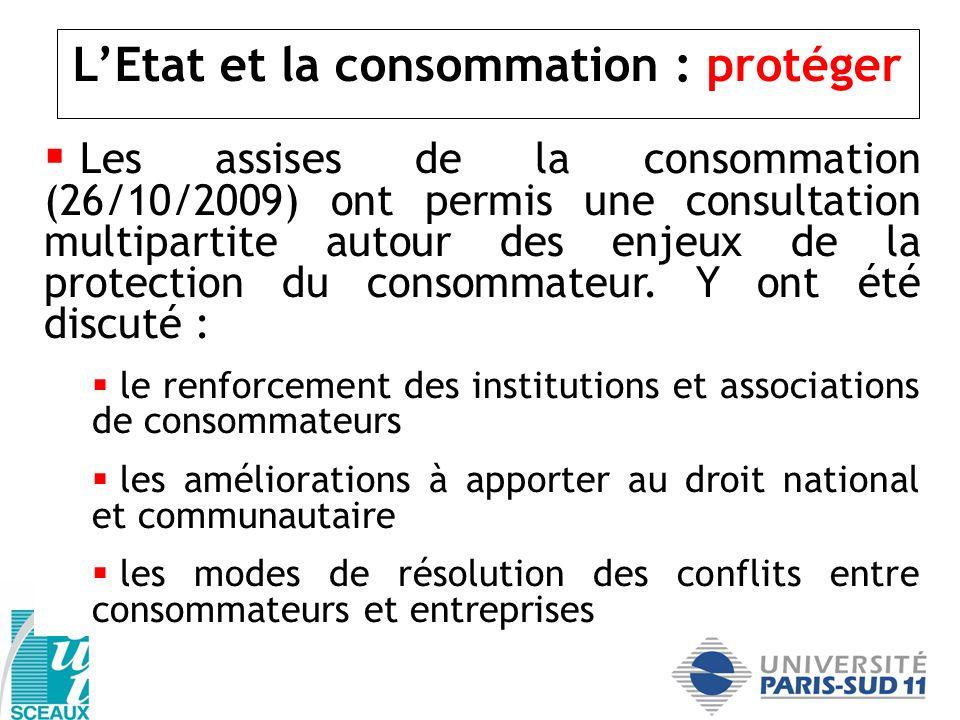 L'Etat et la consommation : protéger