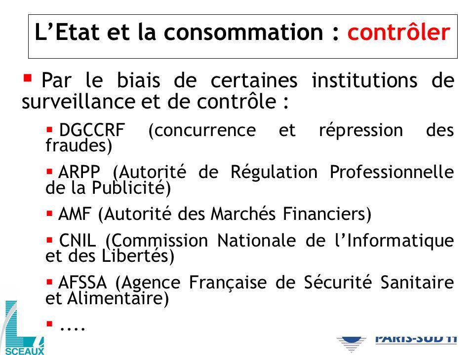 L'Etat et la consommation : contrôler