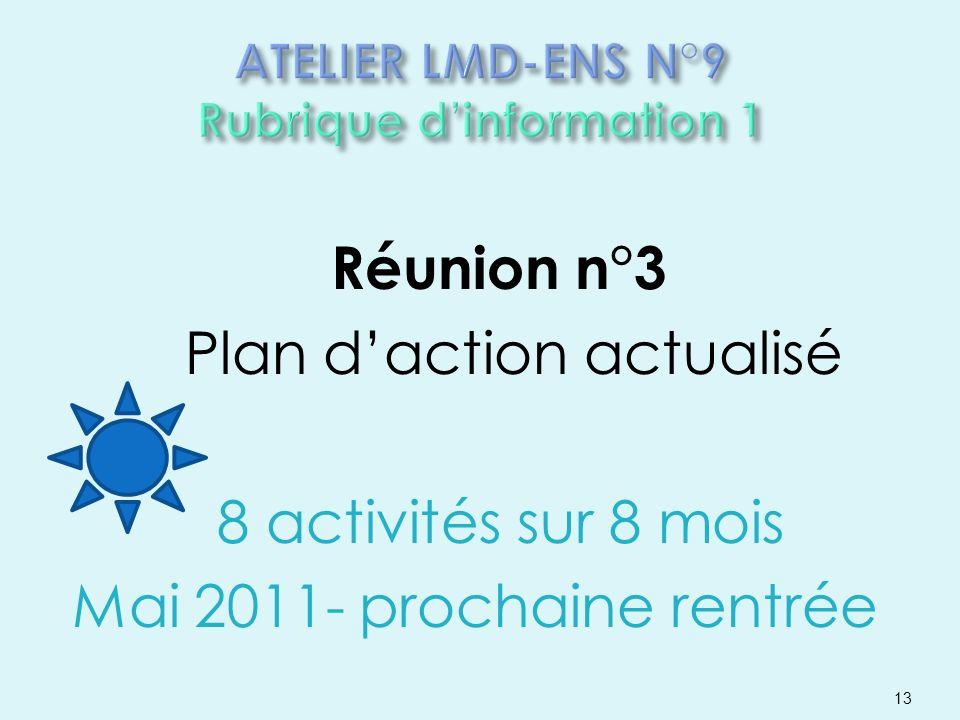 ATELIER LMD-ENS N°9 Rubrique d'information 1