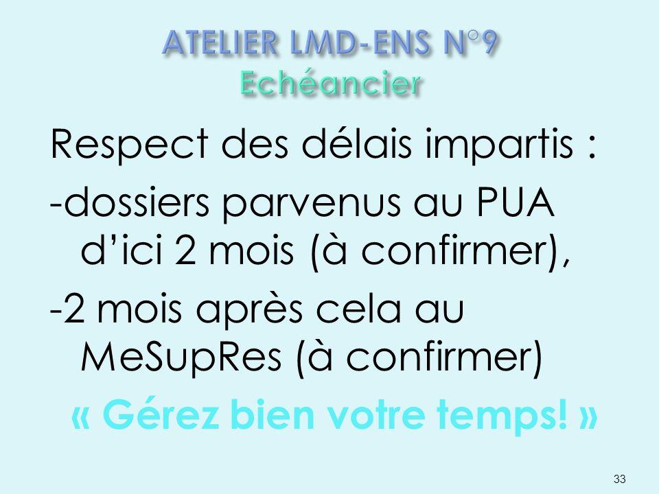 ATELIER LMD-ENS N°9 Echéancier