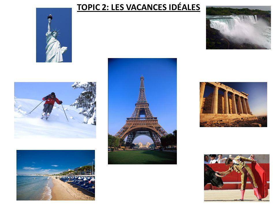TOPIC 2: LES VACANCES IDÉALES