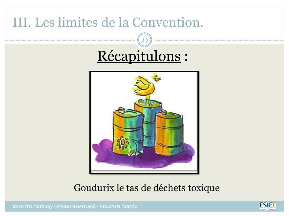 III. Les limites de la Convention.