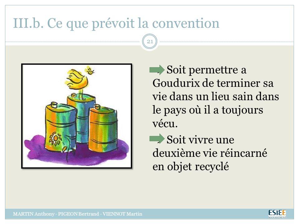 III.b. Ce que prévoit la convention