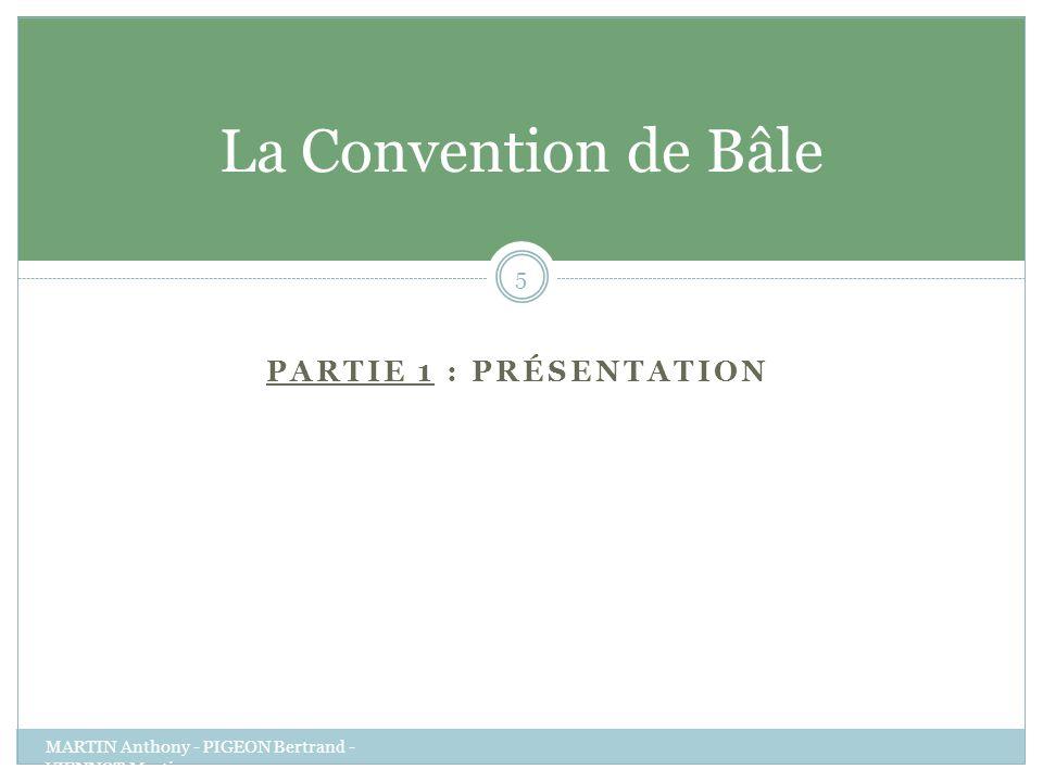 La Convention de Bâle Partie 1 : présentation