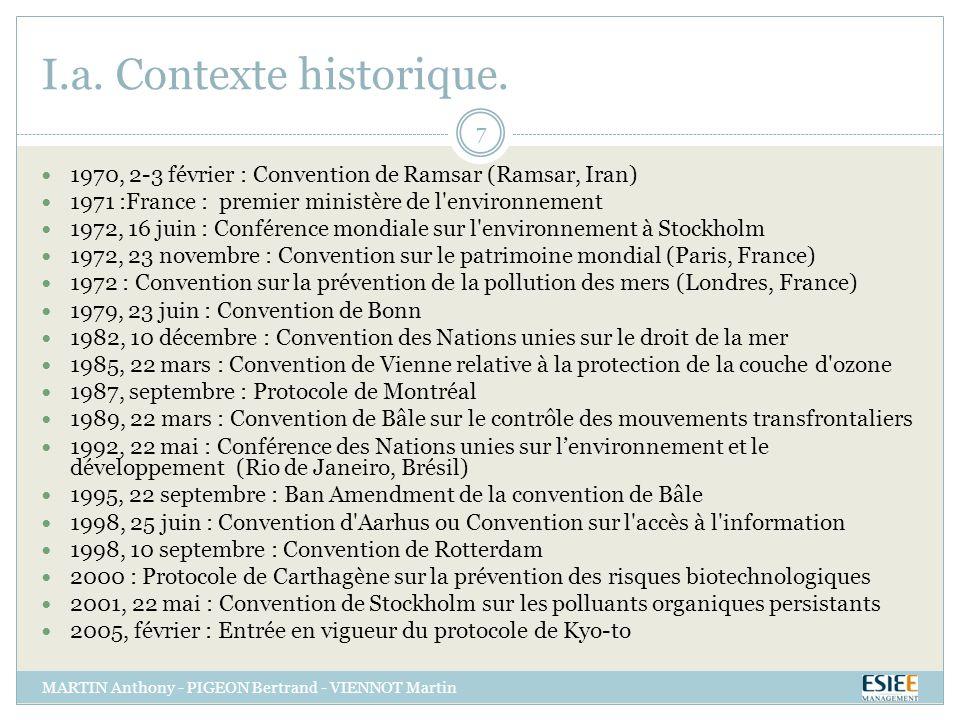 I.a. Contexte historique.