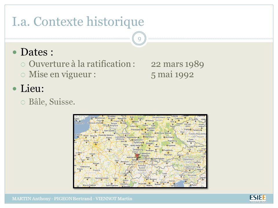 I.a. Contexte historique