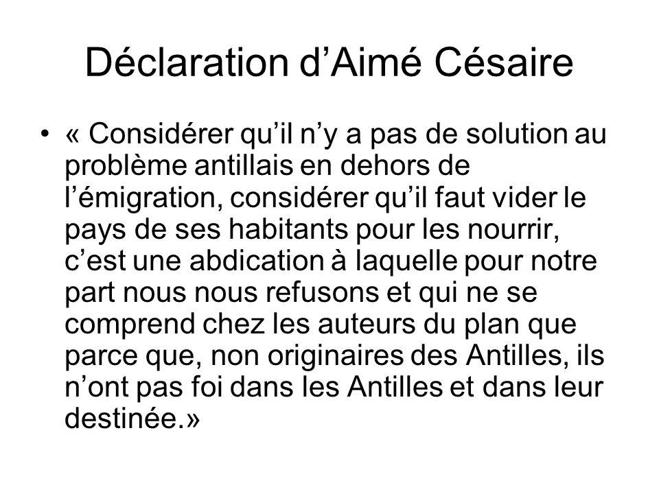Déclaration d'Aimé Césaire