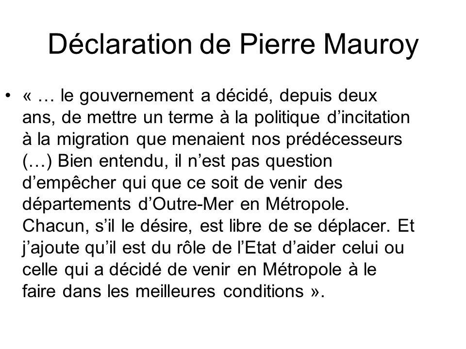 Déclaration de Pierre Mauroy