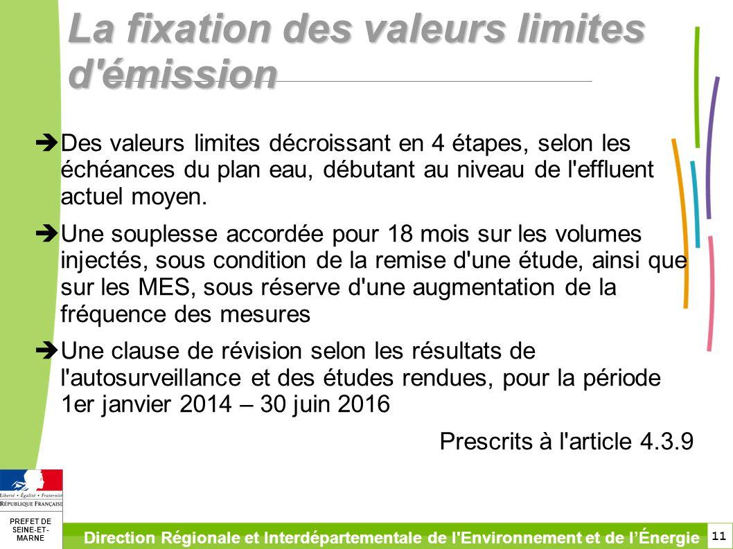 La fixation des valeurs limites d émission