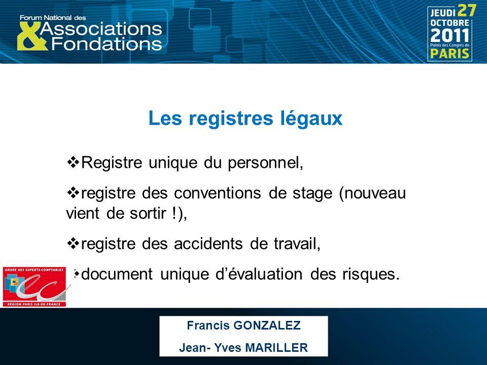 Les registres légaux Registre unique du personnel,