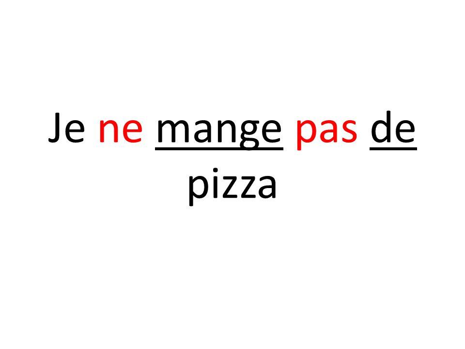 Je ne mange pas de pizza