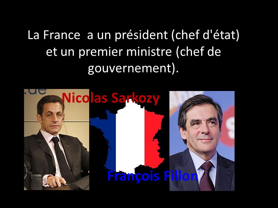 La France a un président (chef d état) et un premier ministre (chef de gouvernement).