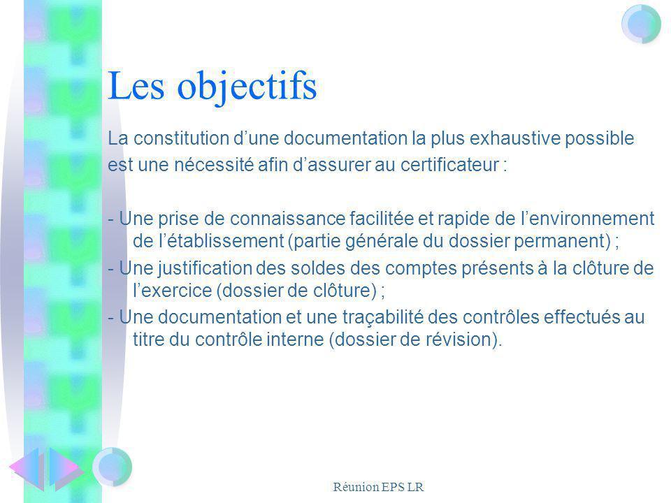 Les objectifs La constitution d'une documentation la plus exhaustive possible. est une nécessité afin d'assurer au certificateur :