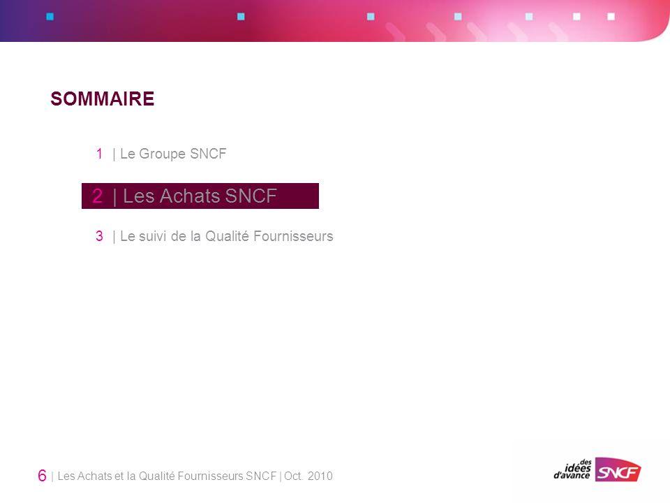 1 | Le Groupe SNCF 2 | Les Achats SNCF SOMMAIRE