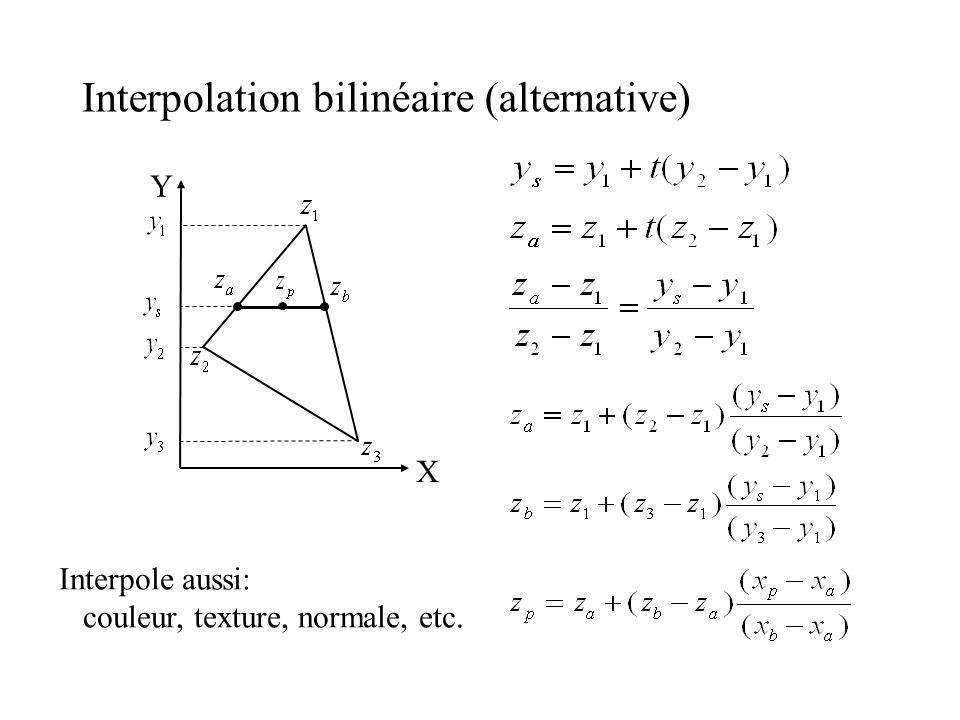 Interpolation bilinéaire (alternative)‏