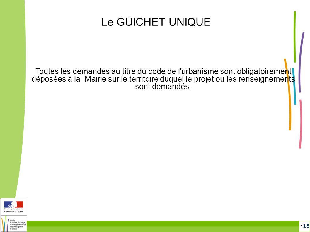 Le GUICHET UNIQUE