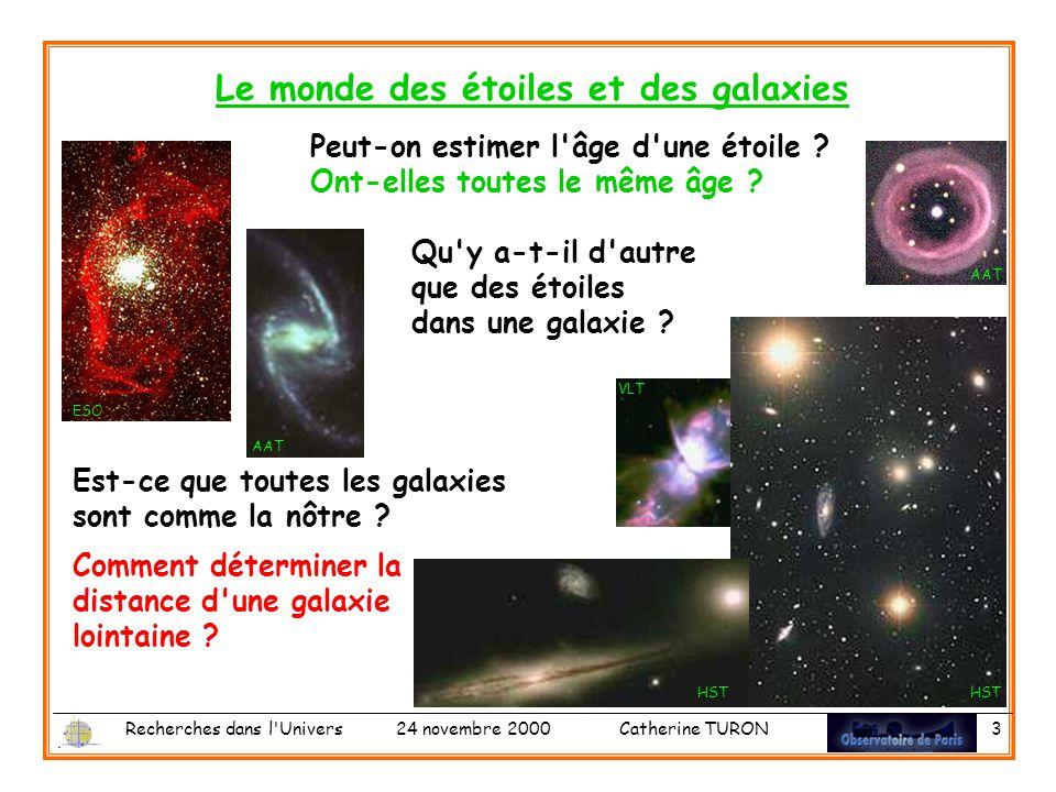 Le monde des étoiles et des galaxies
