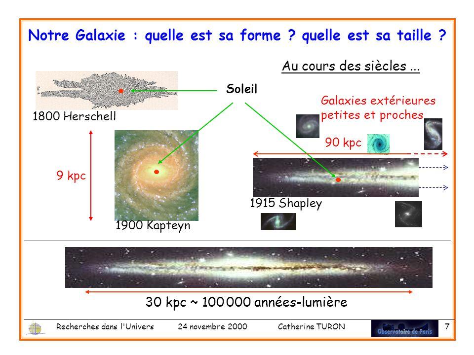 Notre Galaxie : quelle est sa forme quelle est sa taille