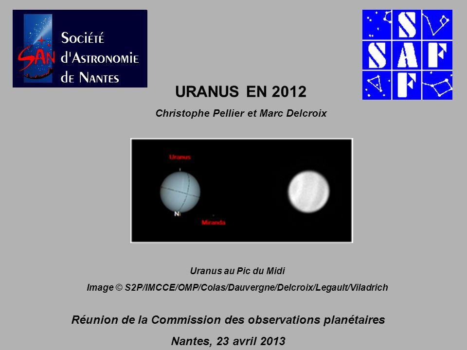URANUS EN 2012 Réunion de la Commission des observations planétaires