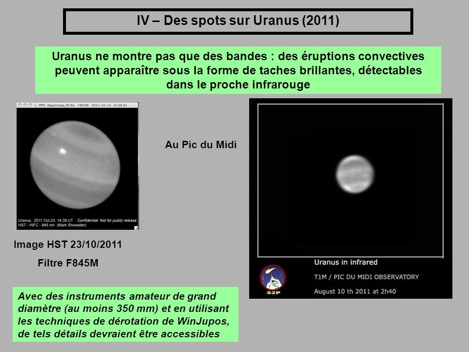IV – Des spots sur Uranus (2011)