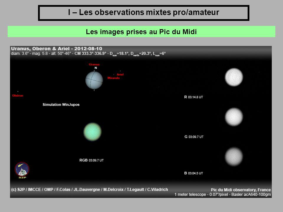 I – Les observations mixtes pro/amateur