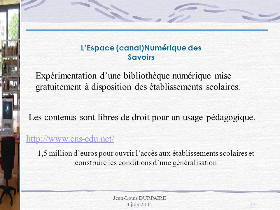 L'Espace (canal)Numérique des Savoirs