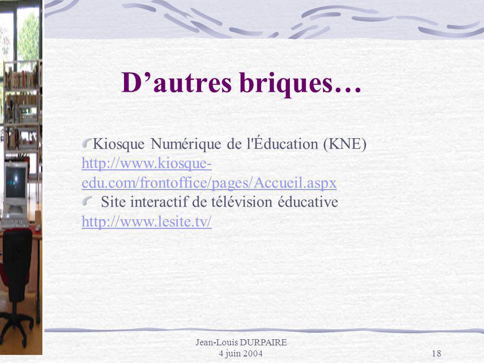 Jean-Louis DURPAIRE 4 juin 2004