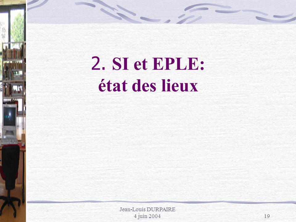 2. SI et EPLE: état des lieux