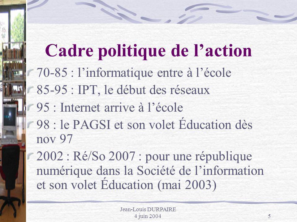Cadre politique de l'action