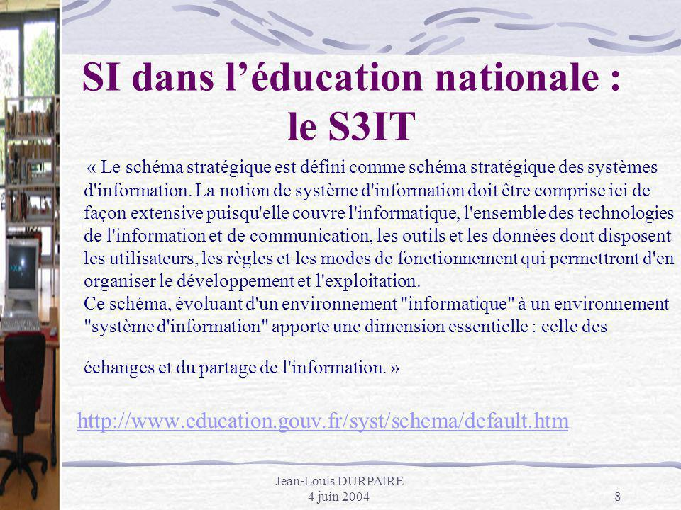 SI dans l'éducation nationale : le S3IT