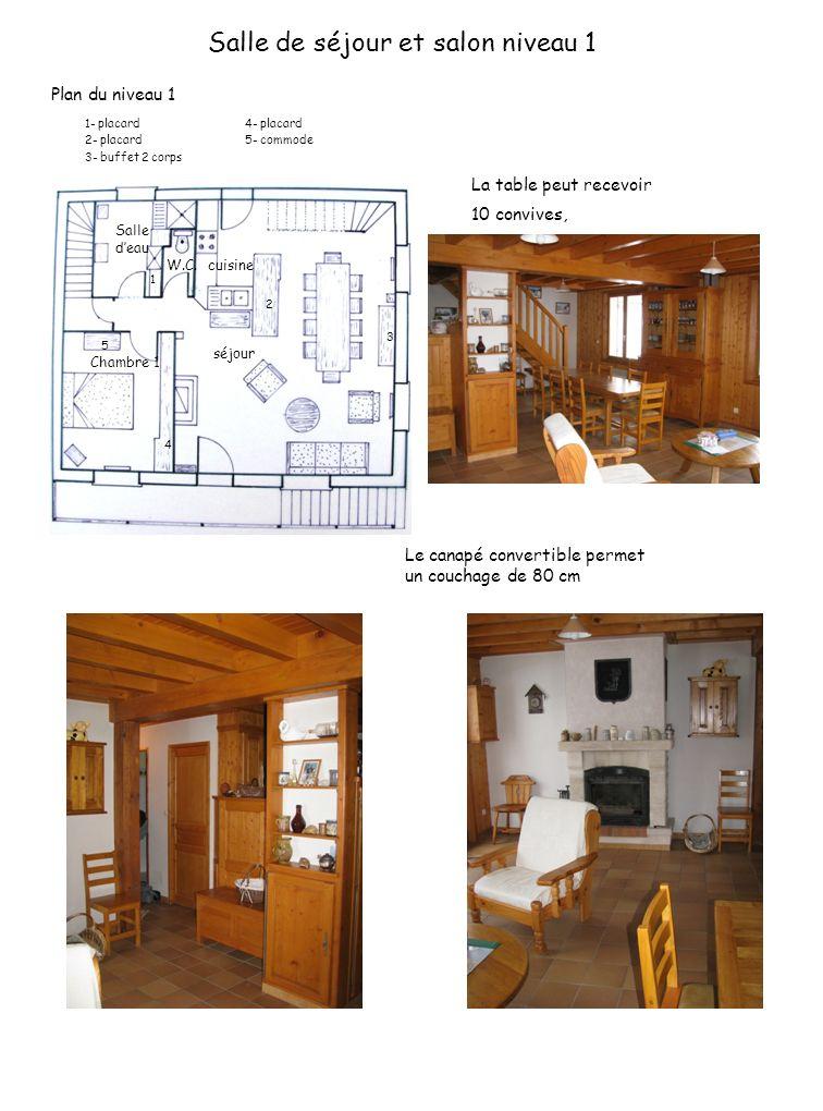Salle de séjour et salon niveau 1