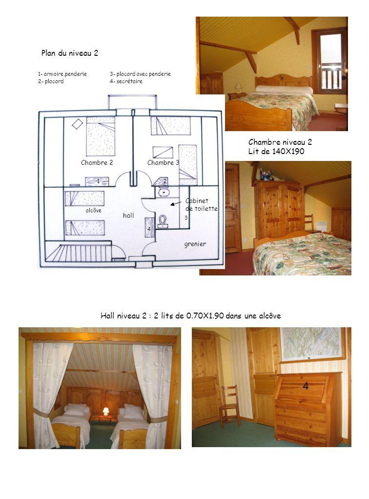 4 Plan du niveau 2 Chambre niveau 2 Lit de 140X190
