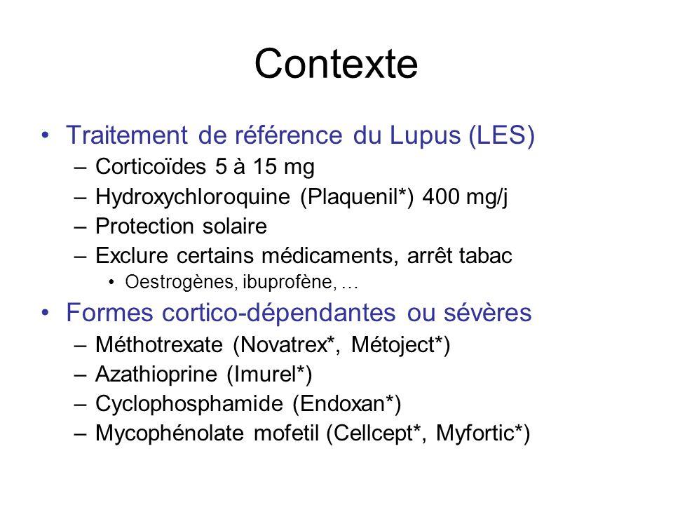 Contexte Traitement de référence du Lupus (LES)