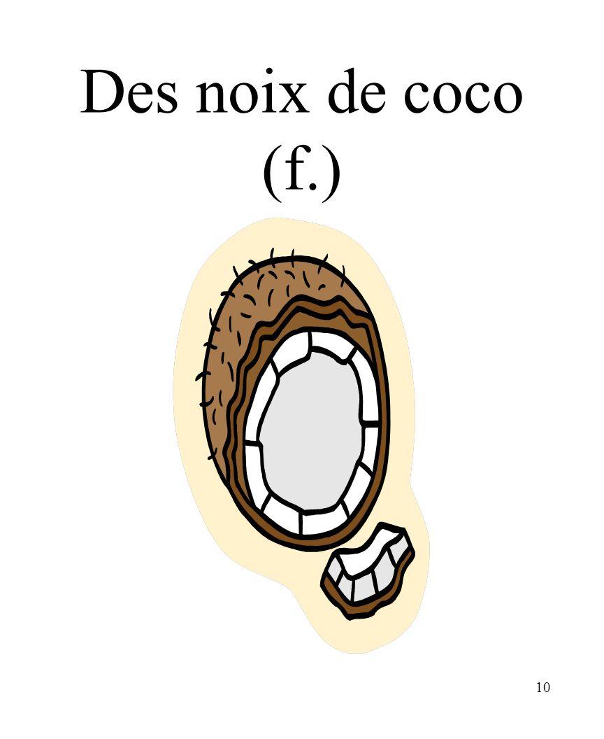 CHAPITRE 8 LES ALIMENTS 3/25/2017 Des noix de coco (f.) Madame Craven