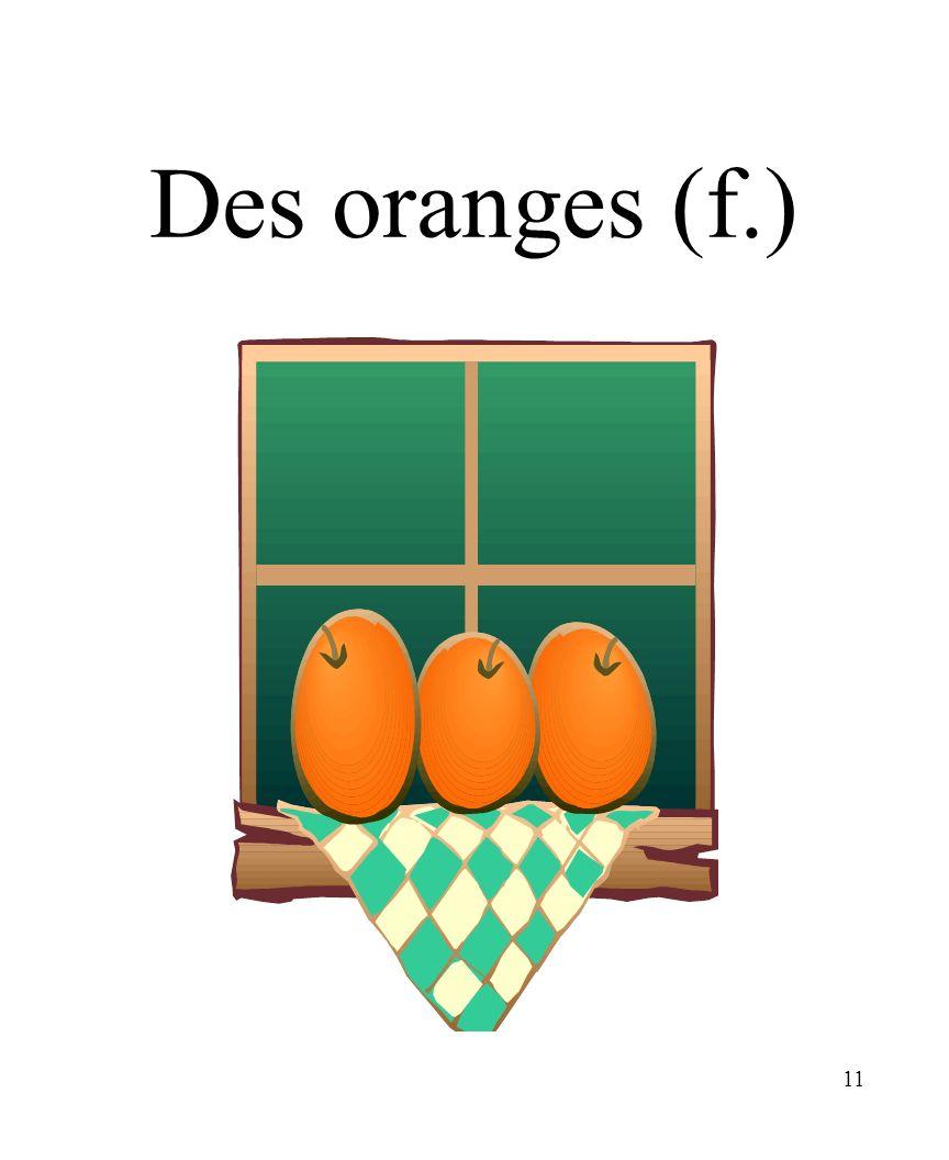 CHAPITRE 8 LES ALIMENTS 3/25/2017 Des oranges (f.) Madame Craven