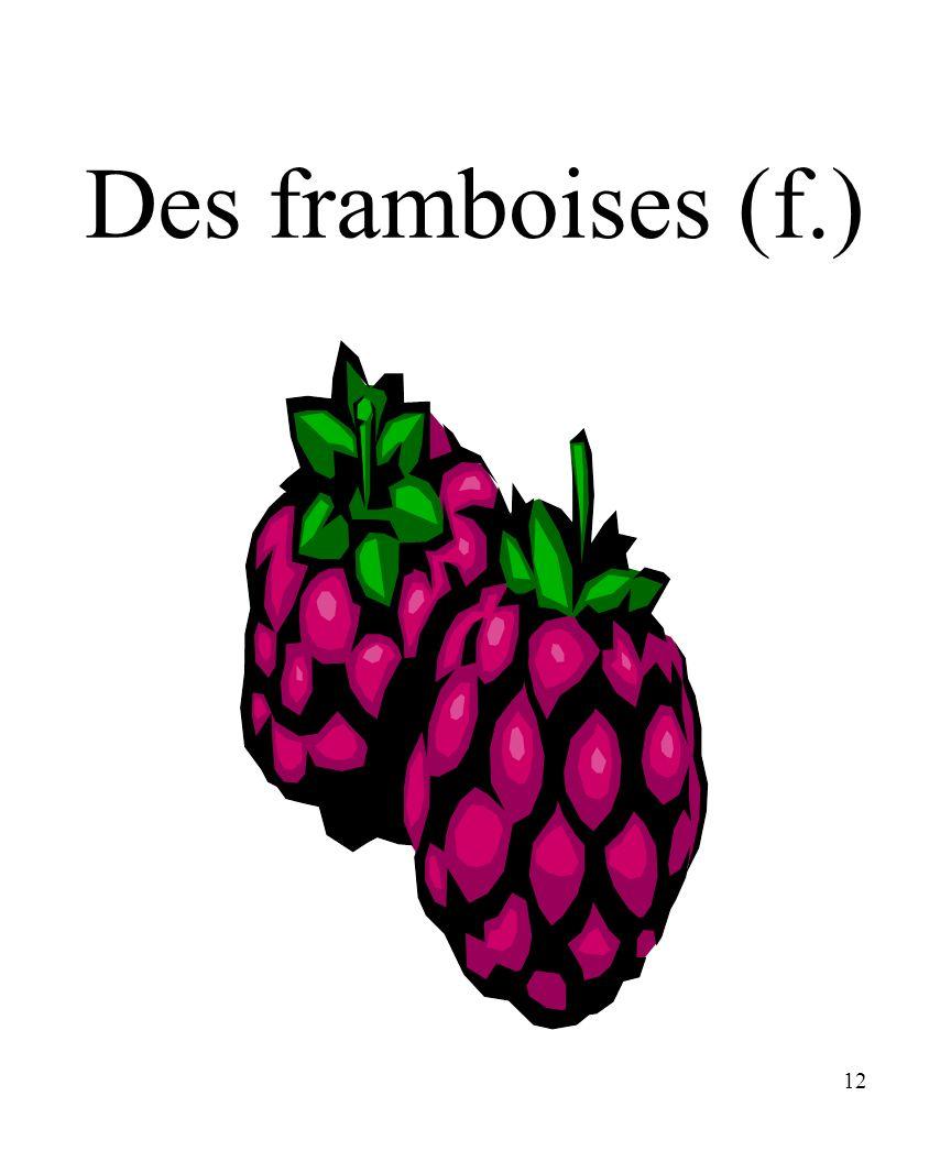 CHAPITRE 8 LES ALIMENTS 3/25/2017 Des framboises (f.) Madame Craven