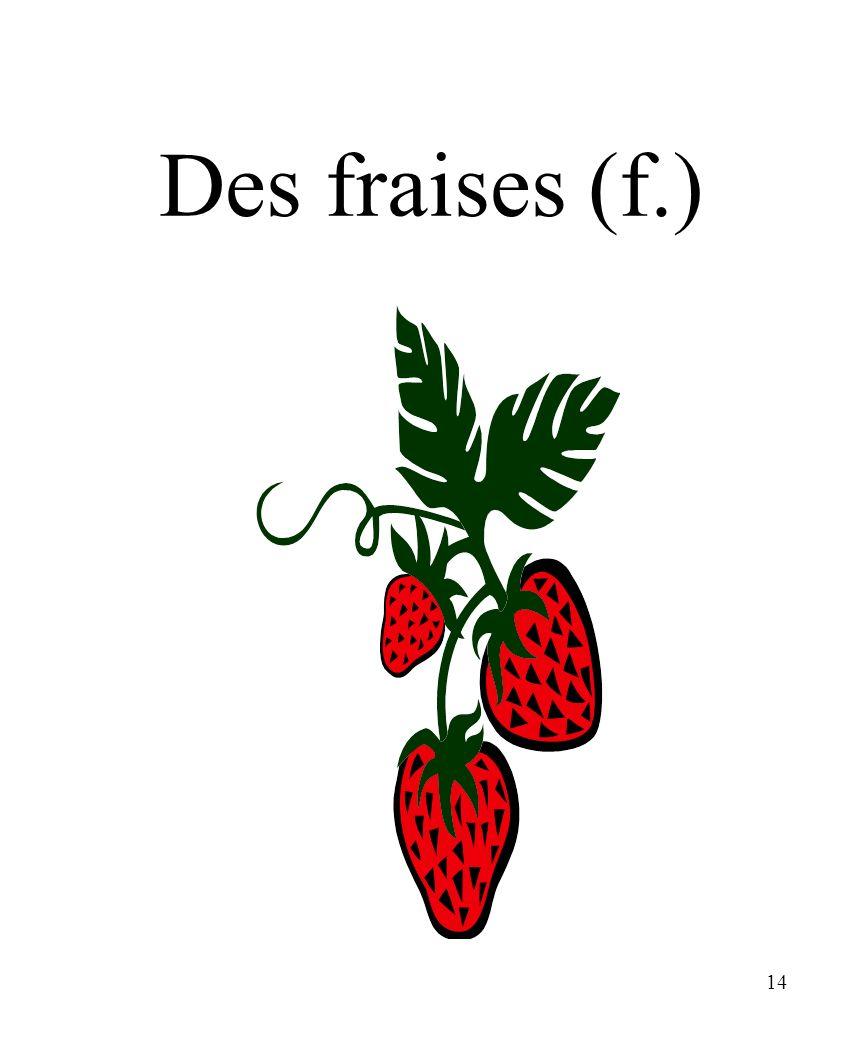 CHAPITRE 8 LES ALIMENTS 3/25/2017 Des fraises (f.) Madame Craven