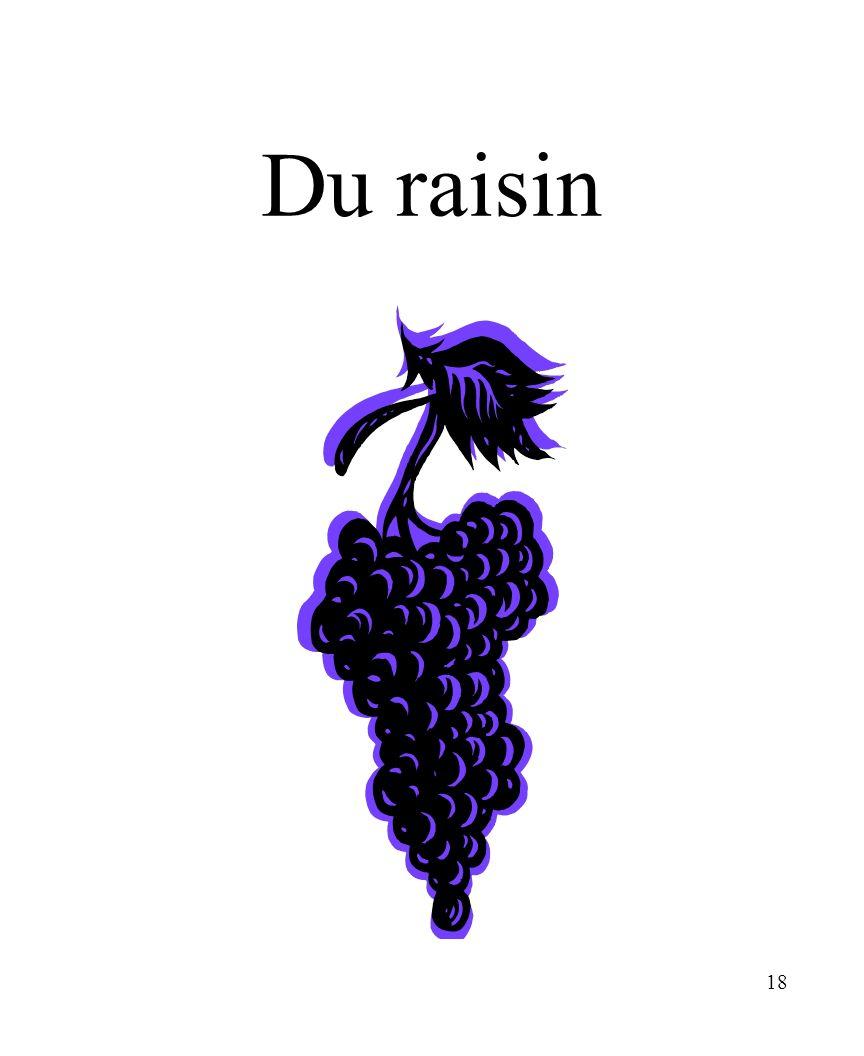 CHAPITRE 8 LES ALIMENTS 3/25/2017 Du raisin Madame Craven