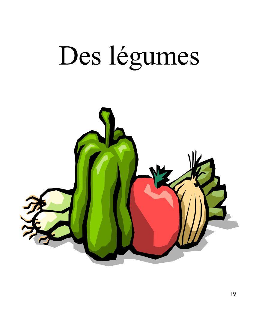 CHAPITRE 8 LES ALIMENTS 3/25/2017 Des légumes Madame Craven