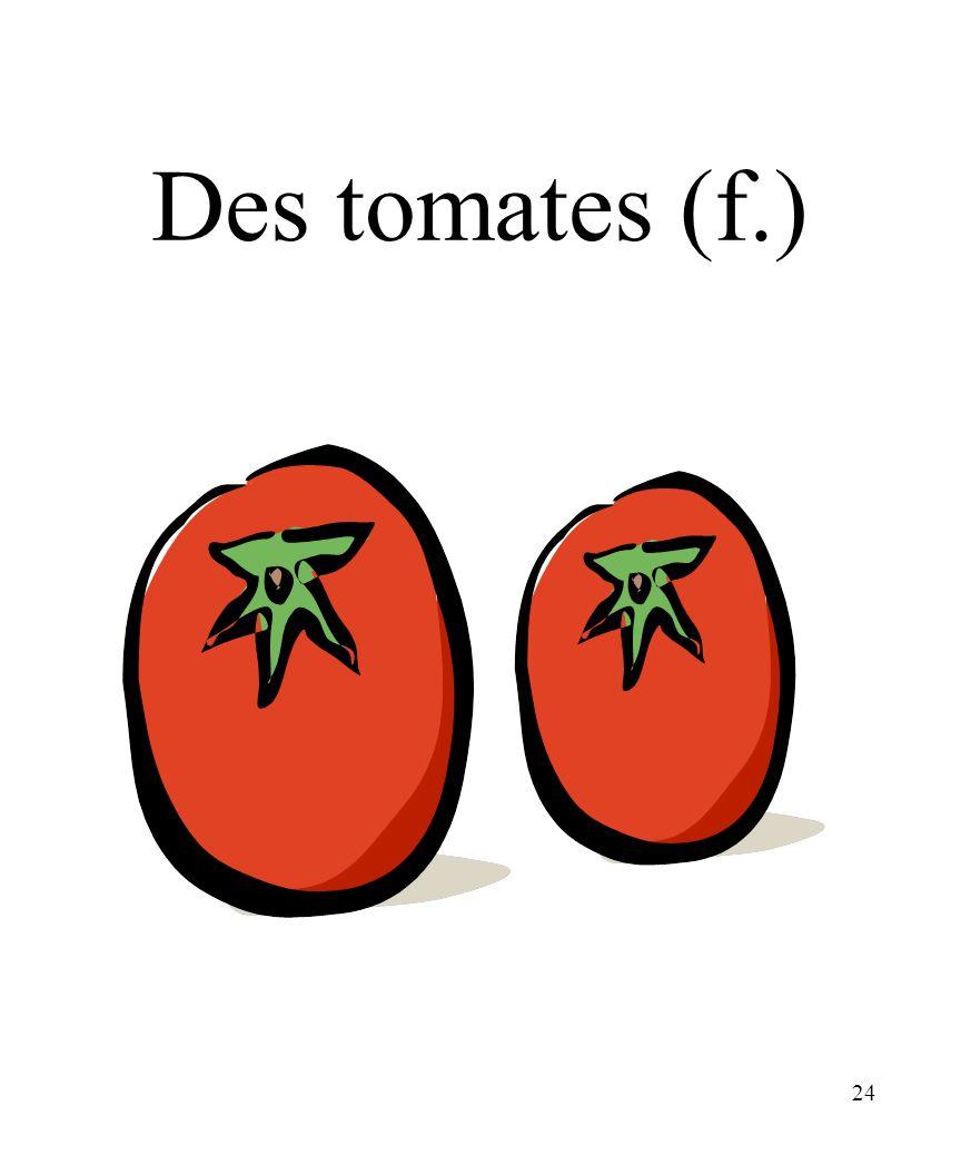CHAPITRE 8 LES ALIMENTS 3/25/2017 Des tomates (f.) Madame Craven
