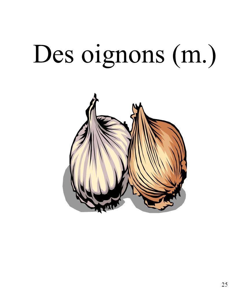 CHAPITRE 8 LES ALIMENTS 3/25/2017 Des oignons (m.) Madame Craven