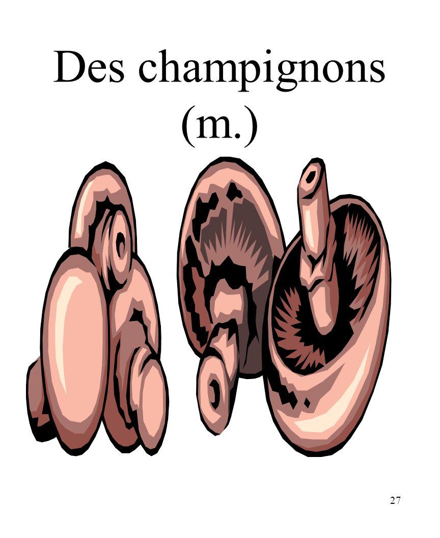 CHAPITRE 8 LES ALIMENTS 3/25/2017 Des champignons (m.) Madame Craven