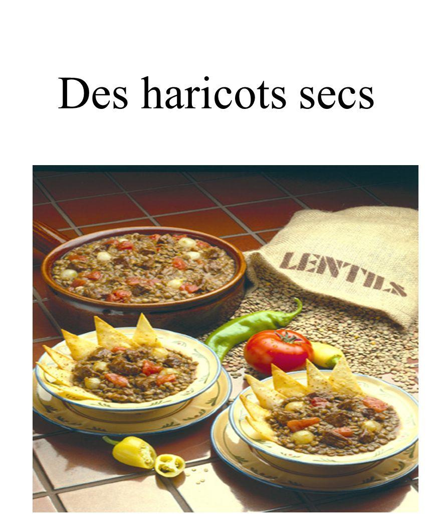CHAPITRE 8 LES ALIMENTS 3/25/2017 Des haricots secs Madame Craven