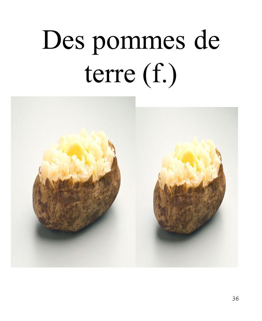 Des pommes de terre (f.) CHAPITRE 8 LES ALIMENTS 3/25/2017
