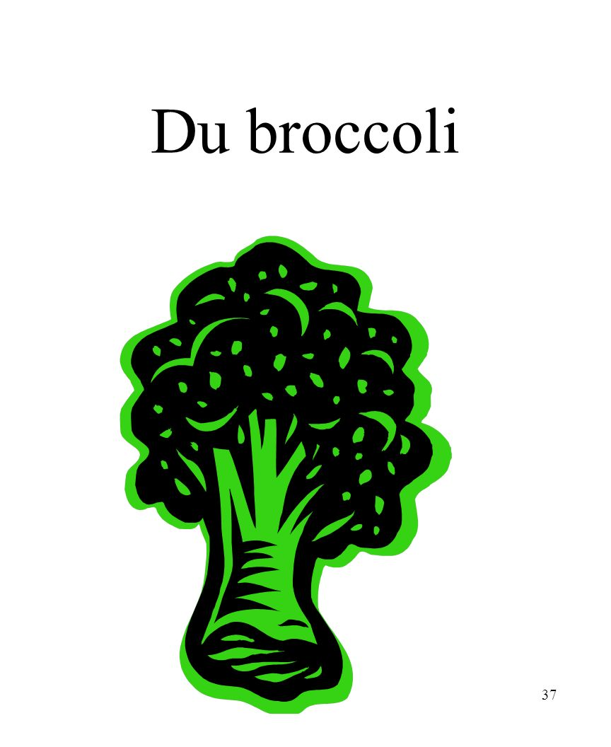 CHAPITRE 8 LES ALIMENTS 3/25/2017 Du broccoli Madame Craven