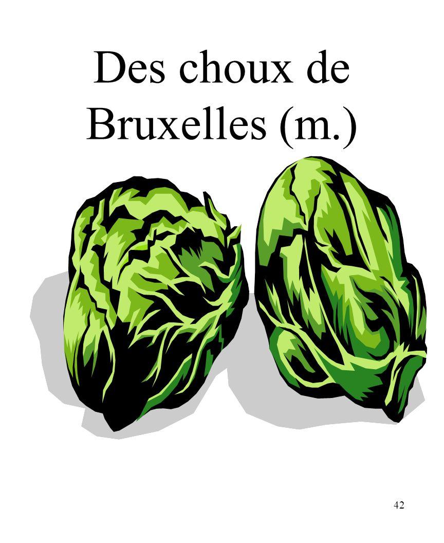 Des choux de Bruxelles (m.)