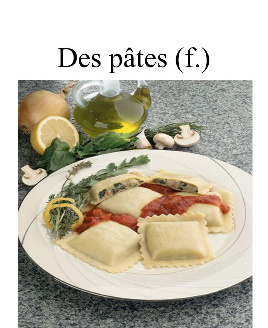 CHAPITRE 8 LES ALIMENTS 3/25/2017 Des pâtes (f.) Madame Craven