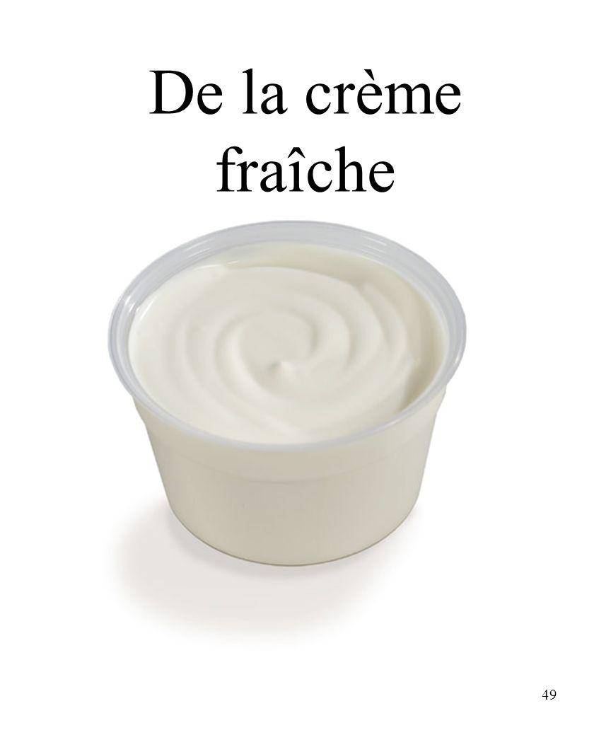 CHAPITRE 8 LES ALIMENTS 3/25/2017 De la crème fraîche Madame Craven