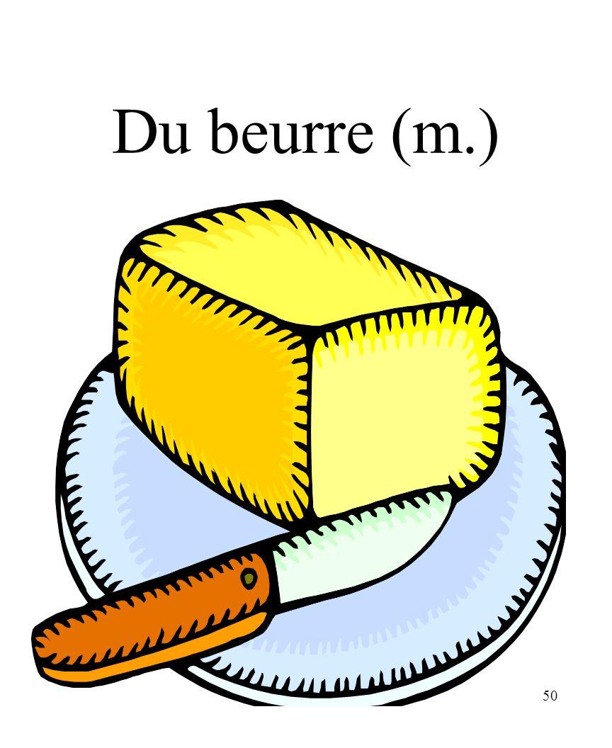 CHAPITRE 8 LES ALIMENTS 3/25/2017 Du beurre (m.) Madame Craven