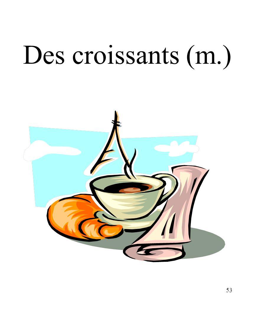 CHAPITRE 8 LES ALIMENTS 3/25/2017 Des croissants (m.) Madame Craven